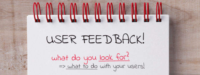 User Feedback : what to do with your users?