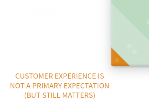 companies with low promise & positioning and low customer effort must still care about customer experience