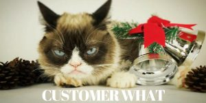 not caring about customer experience